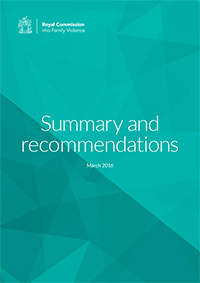 RCFV Summary and recommendations